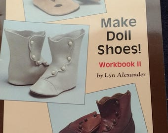 Make Doll Shoes Pattern Book by Lyn Alexander