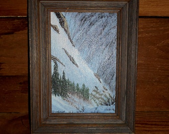Small Rustic Painting By B. Stambrugh from 1983 Alaska High Country Rustic Painting,Signed By Artist