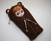 """Special Listing For Lynda, """"Beary Cute"""" Teddy Bear Sleepsack For Blythe Doll"""