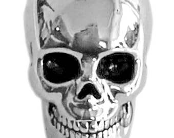 Dead Man's Skull Hair Bead - Silver, Copper, or Gold FREE USA SHIPPING!