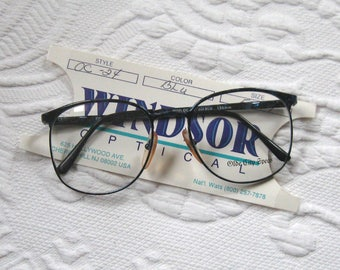 Women's Glasses Frame . Windsor optical . 80s glasses . women eyewear . blue eyewear . 80s eyewear