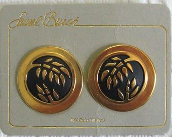 Laurel Burch earrings . earrings for pierced ears . Laurel Burch . silver and black earrings