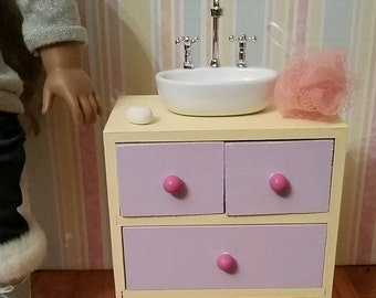 18 inch doll bathroom sink dresser sink vanity etsy 21764