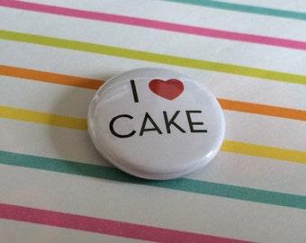I Love Cake Pin Badge
