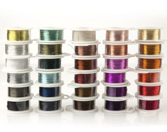 Jewelry wire for wire crochet jewelry, Best craft wire craft supplies, Crochet Crafting wire, 28 gauge wire, 360 feet wire, Non tarnish wire
