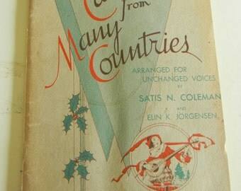 Vintage Christmas Carols from Many Countries Copyright 1934