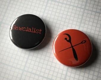 """sewcialist set 1"""" buttons"""