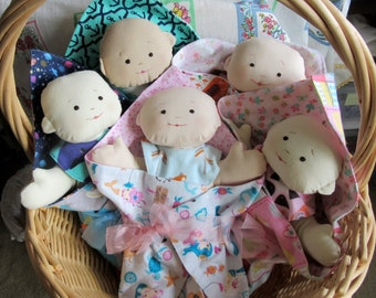 Baby Dolls , Soft and Cuddly, Set with Blankie and Diapers and Bibs