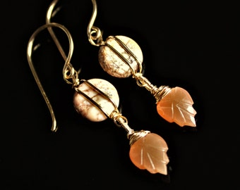Carnelian Desert Sunset Gemstone Earrings