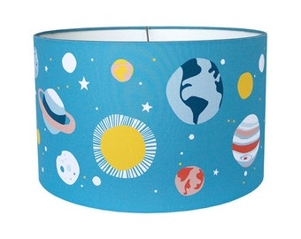 Lampshade Planets - Drum Lampshade