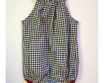 Mascot by Sunday West - oompa loompa in houndstooth : bubble romper for babies and toddlers