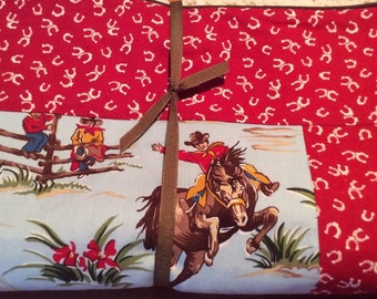 Western Cowboys and Horses Blanket