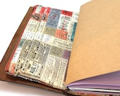 Zippered Insert for Midori Travelers Notebook, Standard Size, Personal Size, Passport Size, Micro Size - Travel Tickets