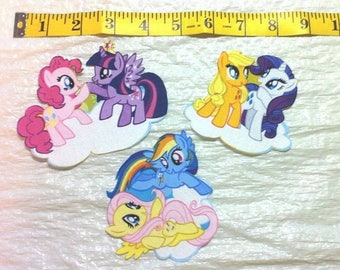 My Little Pony - Your Choice of Characters  Iron on Fabric Applique  - Friendship is Magic
