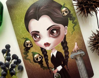 Wednesday Addams Limited Edition Postcard Postcrossing Snail Mail Spooky Girl - Be Afraid