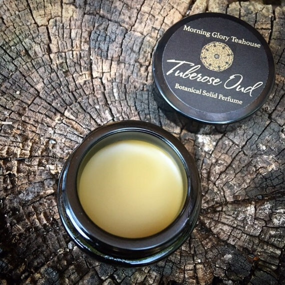 TUBEROSE OUD Botanical Solid Perfume ~ intoxicating, buttery narcotic floral with hints of sweet wood and smoky tobacco