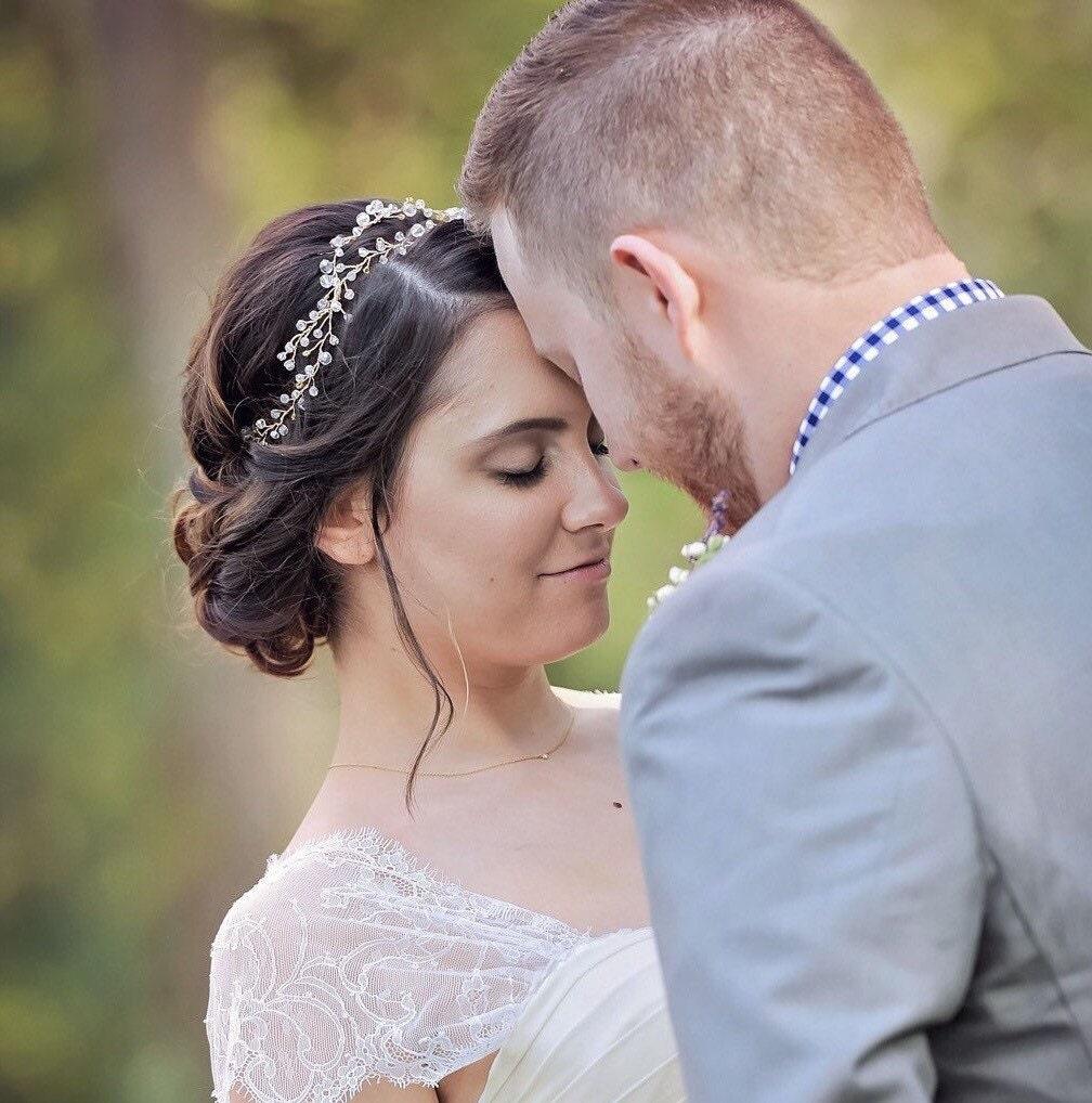 crystal bridal crown crystal hair wreath boho head piece