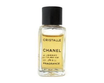 Vintage Chanel Cristalle Perfume Bottle - Fragrance 1/4fl Oz Size, Partially Full
