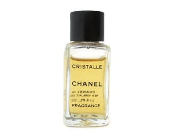 Chanel Perfume Cristalle Perfume Bottle - Fragrance 1/4fl Oz Size, Partially Full