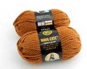 Lion Brand Wool-Ease Yarn. Thick. Hazelnut.