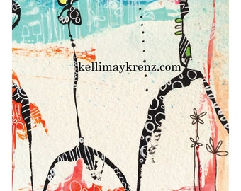 Original art for paper lovers creating - immediate download image. Journals, Scrapbooks, Mixed Media Art, Collage
