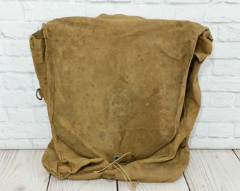 Vintage Boy Scouts of America Backpack Khaki Canvas