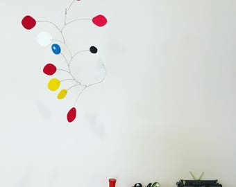 Adorable Multi Color MCM Mobile by Atomic Mobiles - 3 Sizes S/M/L - Calder Inspired Mid Century Modern Style
