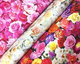 Garden Roses Digital Rose Print ~3 colors~ Elizabeth's Studio Cotton Quilt Fabric