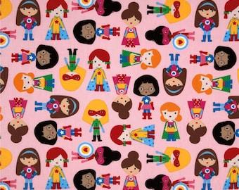 Super Kids Super Girls ~ Ann Kelle for Robert Kaufman Collection Quilt Cotton