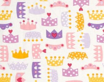 Princess Life Crowns  Spring color ~  Ann Kelle for Robert Kaufman Cotton Quilt Fabric