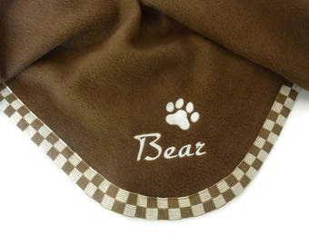 Pet  Blanket  Personalized  Brown