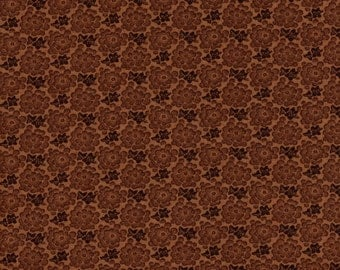 Moda Preservation 46234 14 Brown Small Flower By The Yard