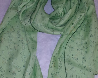 light green scarf with petite floral design
