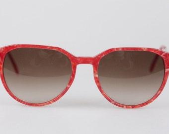 Authentic YVES SAINT LAURENT Vintage mint red women sunglasses persephone 54mm