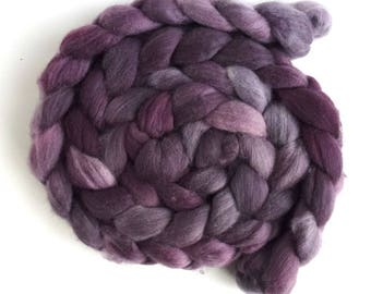 Pre-Order Colorway, Organic Polwarth Roving - Handpainted Spinning or Felting Fiber, Pink Shades