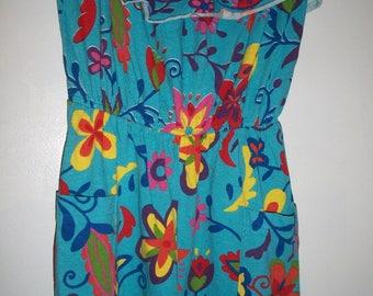 Adorable vintage 80s shorts romper playsuit S M