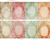 Printable ATC Background Collage Sheet Digital Frame Clip Art Scrapbooking Crafting