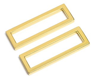 "10pcs - 2"" (50mm) Flat Zinc Square Ring - Gold - (FSR-121) - Free Shipping"