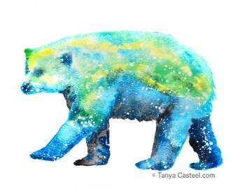 Polar Bear Spirit Animal Art Print Watercolor 8x10