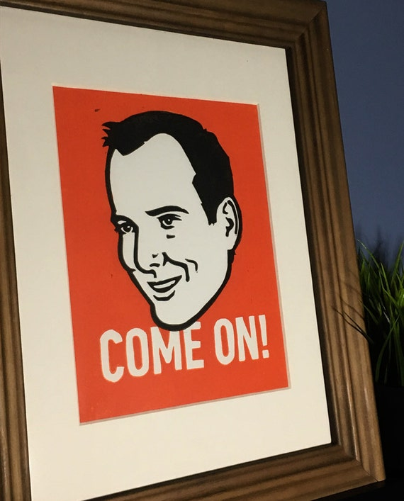 GOB Bluth from Arrested Development Lino Cut Print. COME ON