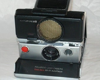Vintage Polaroid Time Zero SX-70 Land Camera Sonar One Step Film Tested Camera for Impossible Project Film