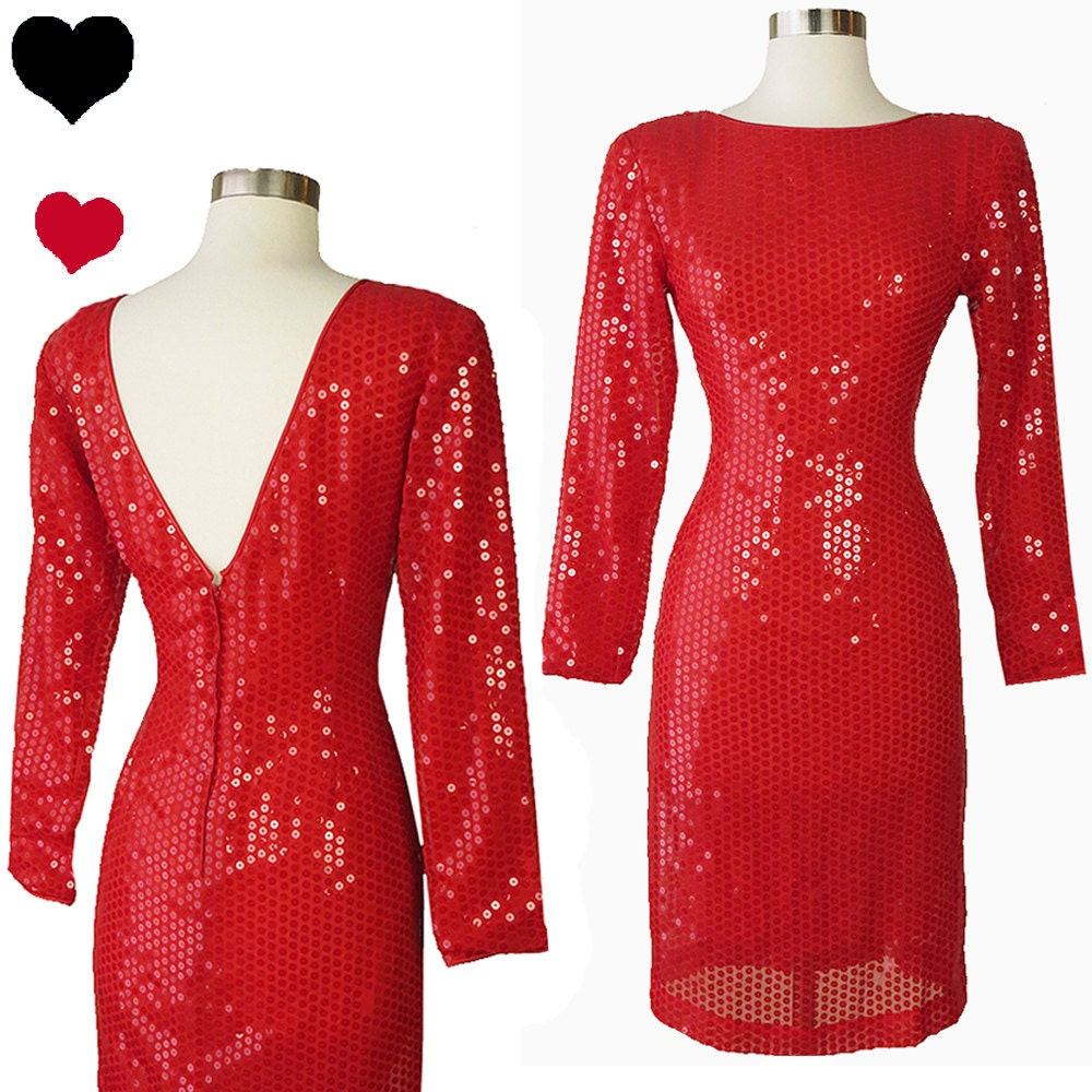 Long Sleeve Dresses for Valentine Party