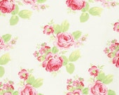 Tanya Whelan - Lola Roses Collection Fabric - Roses on White
