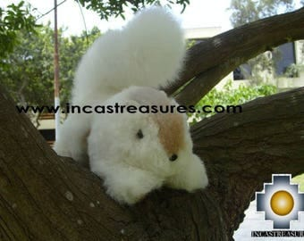100% Baby Alpaca, Adorable Stuffed Animal Squirrel Nuez FREE SHIPPING Worldwide
