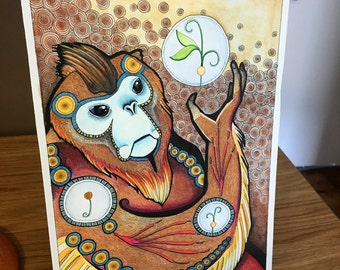 Golden Snub-Nosed Monkey Spirit - Original Art