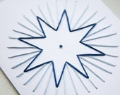 Reserved - HOLIDAY DIY Star Embroidery Card Kit- four cards