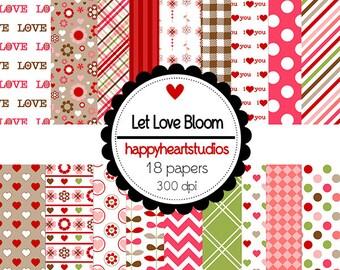 DigitalScrapbooking LetLoveBloom-InstantDownload