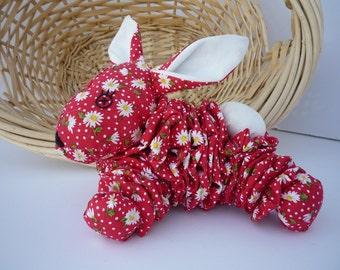 Yo Yo baby bunny rabbit fabric quilt easter bunny