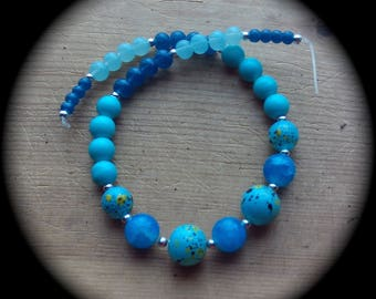 Mixed Blues for your beading pleasure Beads craft Supplies beading supplies diy necklace bracelet earrings crystal boho native cottage  chic