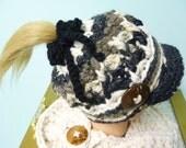 Custom Order for Charlie Messy Bun Ponytail Newsboy Hat